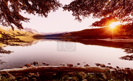 Photo for Patagonia landscapes in Argentina. lake and mountains - Royalty Free Image