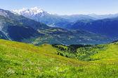 Caucasus mountains panorama