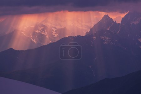 Mountains silhouette background