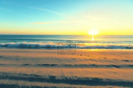 Sea sunset panorama