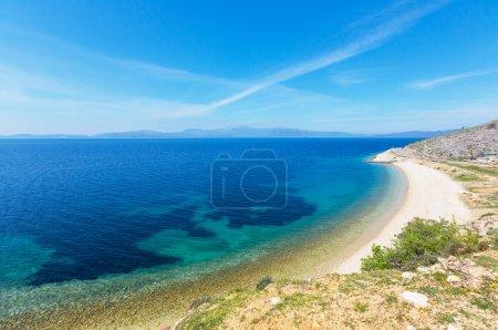 Beautiful rocky coastline in Greece with cliffs, r...