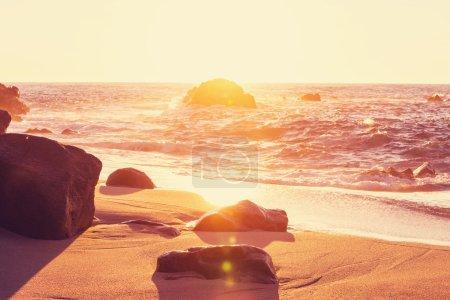 Sea beach sunset