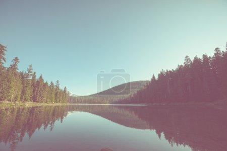 Lake in mountain landscape