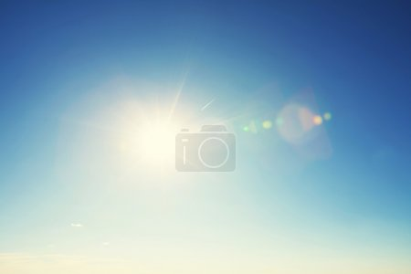 Photo for Beautiful blue sky with bright sun - Royalty Free Image