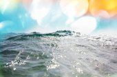 blue wave in sea water