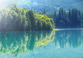 picturesque turquoise Lake