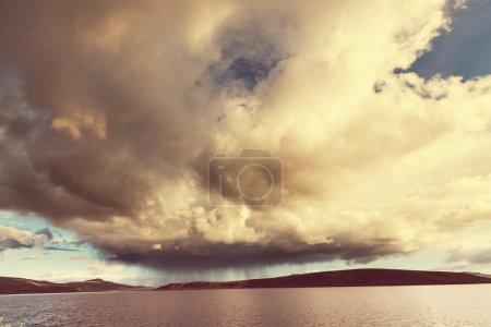Stormy rainy clouds