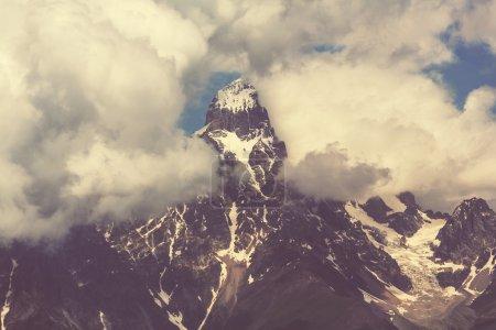 picturesque Ushba peak