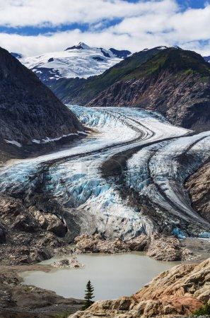 Photo pour Pittoresque glacier Salmon à Stewart, Canada - image libre de droit