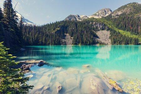Photo pour Beau lac Joffre turquoise au Canada - image libre de droit