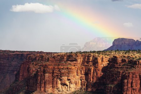 Rainbow above Grand Canyon
