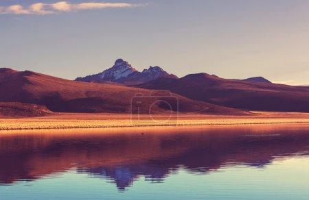 Photo pour Paysage de haute montagne en Bolivie - image libre de droit