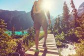 Hiker man in Canada