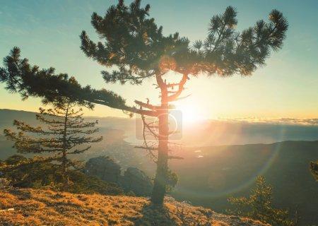 Crimean mountains landscape