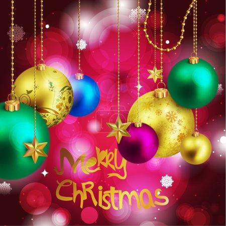 Vector luminous body Christmas ball Poster