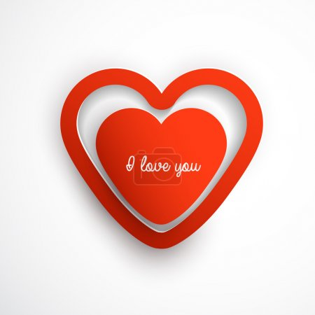 Vector Set: Heart and Love Labels