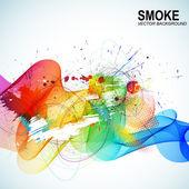 Barva pozadí abstraktní vektorová kouřit tvar