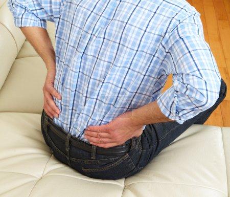 Man suffering from backache