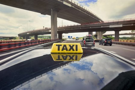 Taxi driving on a motorway