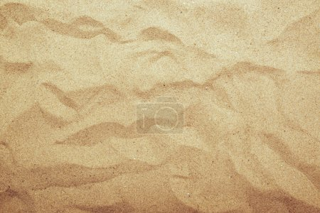 Photo for Sand texture, top view of summer beach sand surface with gradient light. - Royalty Free Image