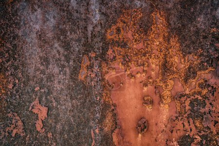 HDR rusty metal plate texture