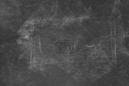 Photo for Retro toned dirty school blackboard with chalk marks texture as educational copy space background - Royalty Free Image