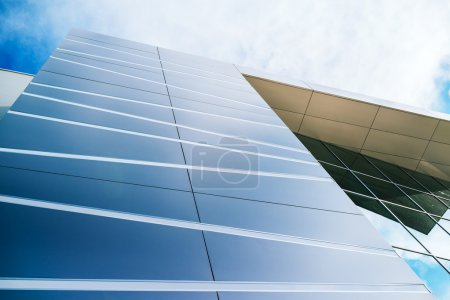 Photo for Modern architecture detail, facade of new business office building - Royalty Free Image