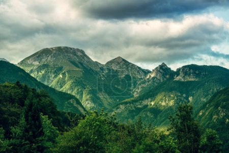 Photo pour Les Alpes juliennes dans le parc national slovène triglav - image libre de droit