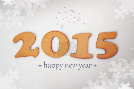 Photo for Happy New 2015 Year, conceptual background with wooden figures. - Royalty Free Image