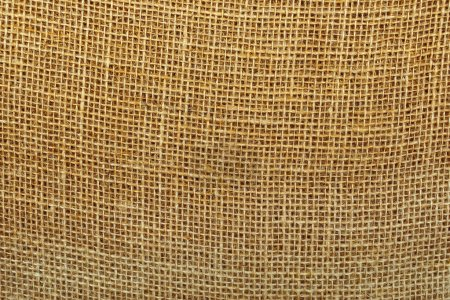 Foto de Natural burlap sacking or sackcloth texture pattern as background - Imagen libre de derechos