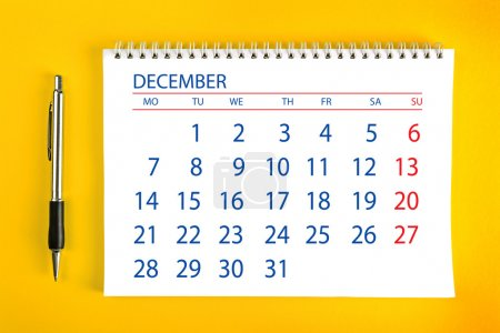 December Calendar Page