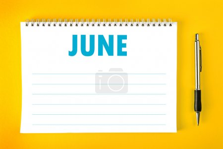 June Calendar Blank Page