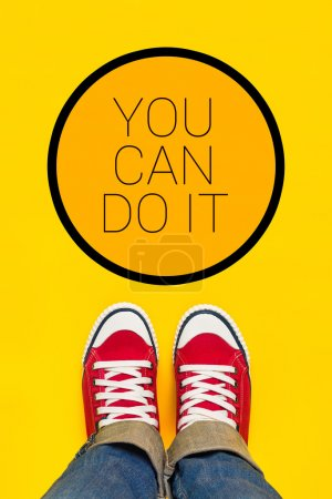 You Can Do It Motivational Message