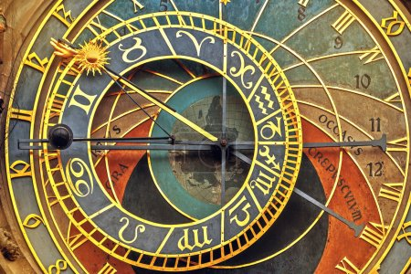 Front View Detail of Prague Astronomical Clock