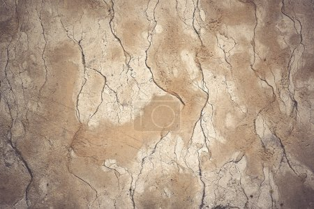 Foto de Patrón de textura de pared de hormigón de grunge rústico como fondo urbano, efecto vintage de tono retro - Imagen libre de derechos