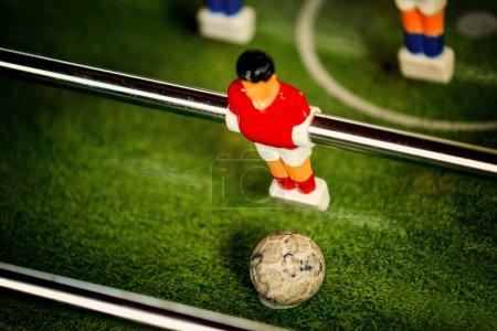 Vintage Table Soccer Player Figure Kicking Ball