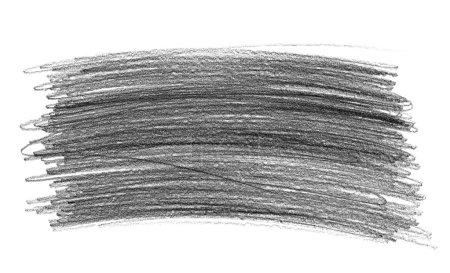Photo pour Crayon graphite gribouillis gribouillis isolés sur fond blanc - image libre de droit