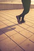 Urban jogging, running on the street