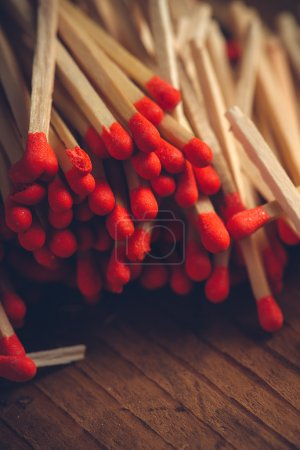 House hold safety matches pile