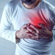 Severe heartache, man suffering from chest pain, h...