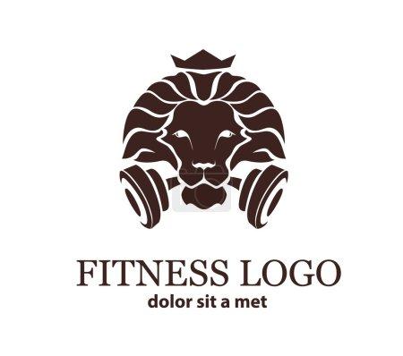 Lion Sport, Fitness Logo Vector Template