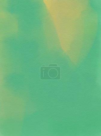 Abstract Watercolor Background - Green And Yellow