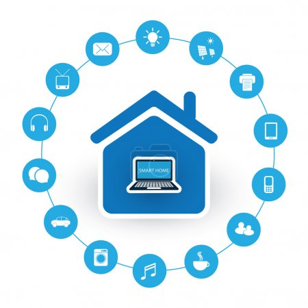 Internet Of Things, Digital Home And Networks Design Concept