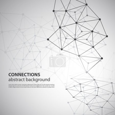 Molecular, Global or Business Network Connections Concept Design