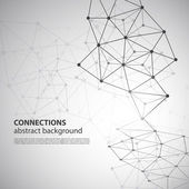 Molecular Global or Business Network Connections Concept Design