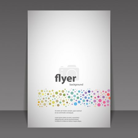 Illustration for Abstract Colorful Modern Styled Flyer or Book Cover Creative Design Template - Illustration in Editable Vector Format - Royalty Free Image