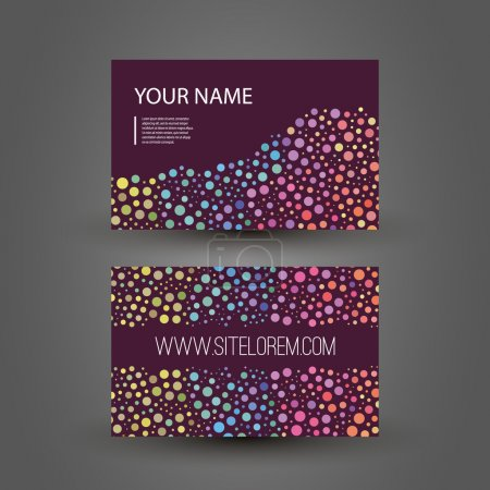 Colorful Dotted Business or Gift Card Design