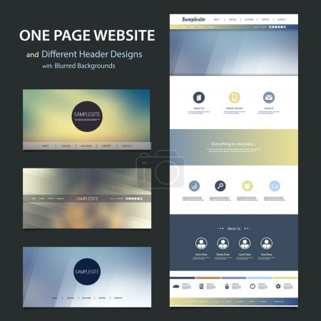 Illustration for Modern Colorful Abstract Web Site, UI or UX Layout Creative Design Template - User Interface, Icon, Label and Button Designs - Illustration for Your Business or Blog - Freely Scalable and Editable Vector Format Included - Royalty Free Image