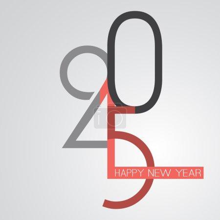 Retro New Year Card - 2015