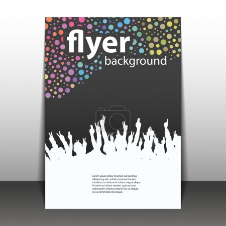 Flyer or Cover Design - Party Time - Dotted Background with Waving Hands